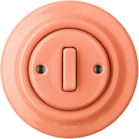 Porcelain wall switch in salmon pink, £79, swtch.co.uk