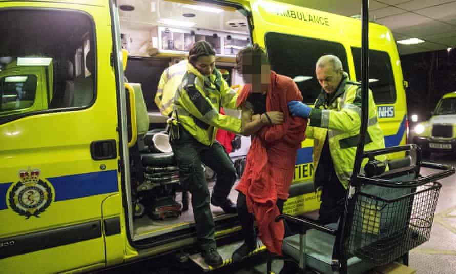 Paramedics take someone to A&E after they consumed a large amount of alcohol.