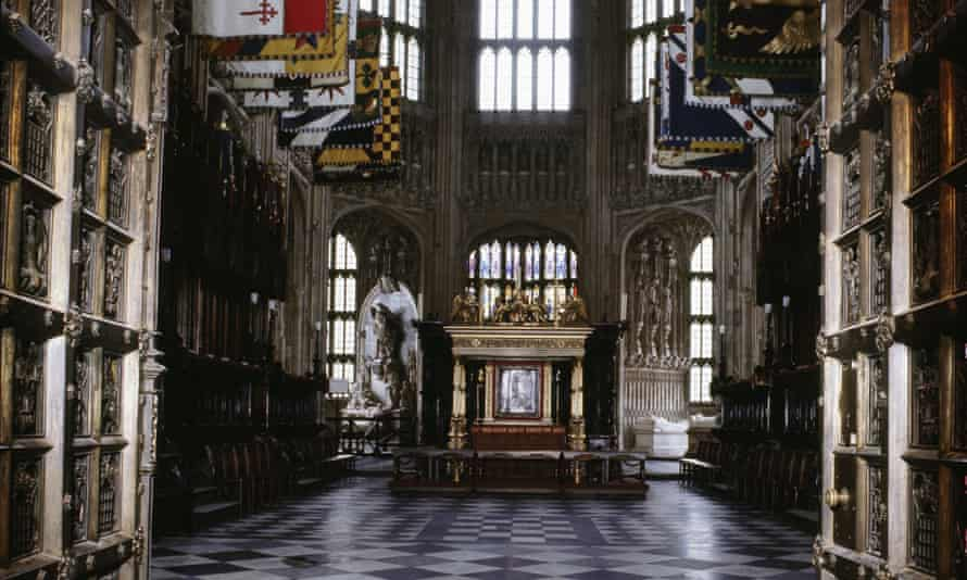 The interior of Henry VII's Lady Chapel at Westminster Abbey. At the back of the altar is an inlaid sacred tablet, which was looted from Ethiopia.