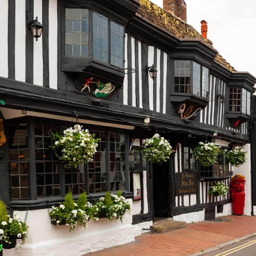 Exterior of The Star hotel in Alfriston, East Sussex, UK