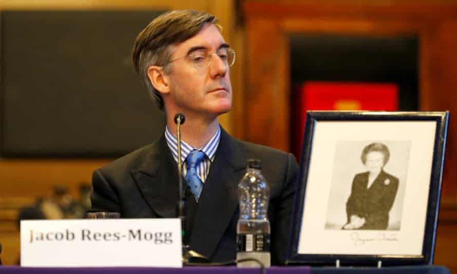 Jacob Rees-Mogg at fringe meeting in Manchester