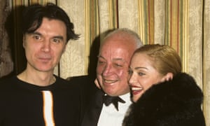 'I knew she was gonna go pretty far' … Stein with David Byrne and Madonna at the 1996 Rock'n'Roll Hall of Fame.
