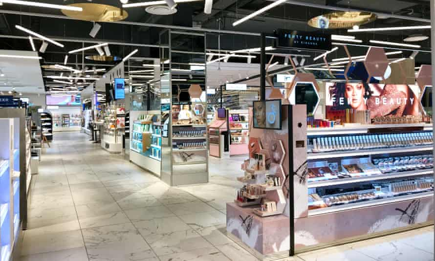 The beauty hall of a Boots concept store in Covent Garden, London