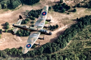 Avro LegacyRAF100, second prize. The RAF100 parade and flypast took place over London on 10 July 2018. The evening before the Battle of Britain Memorial Flight flew a practice flight over Lincolnshire, including an Avro Lancaster Bomber