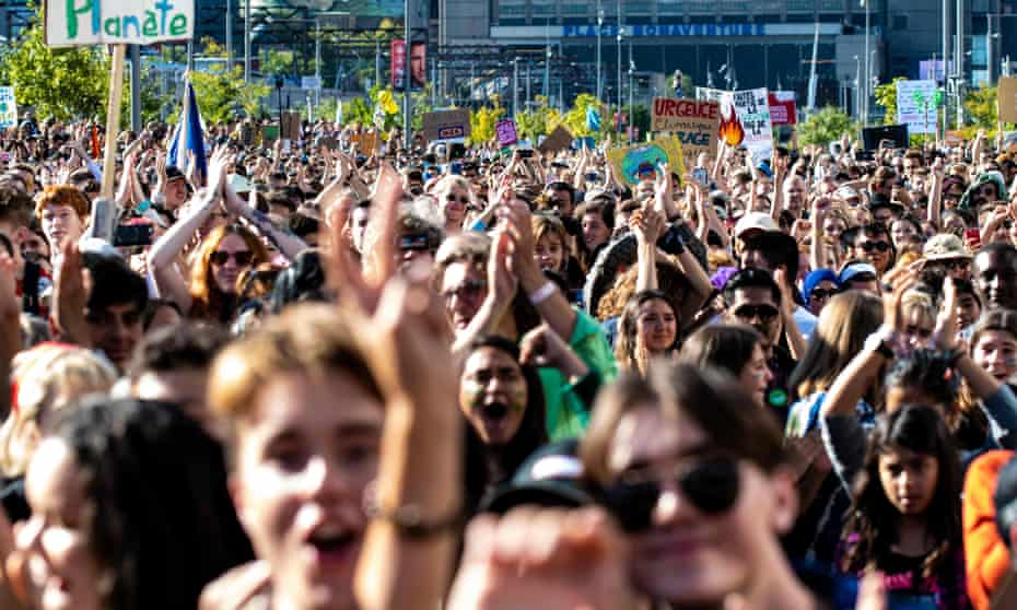 Global climate strike in Montreal, Canada on 27 September 2019.