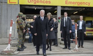 King Philippe and Queen Mathilde visited victims of the terror attacks at Erasme Hospital, Brussels earlier on Wednesday.