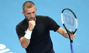 Britain's Dan Evans was near-faultless in the first set against Moldova's Radu Albot in Sydney.