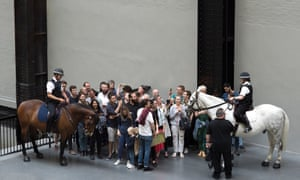 Bruguera's Tatlin's Whisper #5 is staged at Tate Modern in 2016.