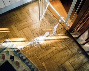 What I cured myself of when I had children was perfectionism in taking care of the house. Something is still dirty, spilled and damaged. It's living with them