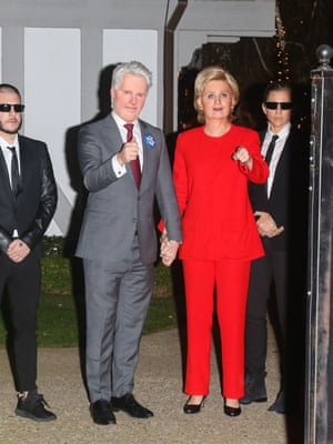 2016 Orlando Bloom and Katy Perry as Bill and Hillary Clinton