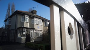 A blue plaque is displayed at Mendips, the childhood home of John Lennon, in Woolton