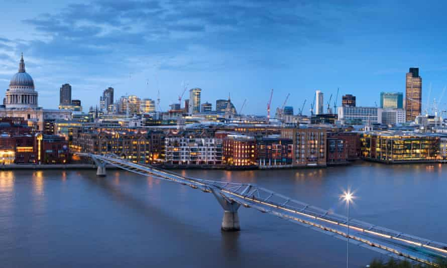 St Paul's Cathedral and the City skyline