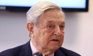 George Soros said Theresa May would not last as prime minister and Donald Trump would hurt financial markets.