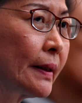 Hong Kong's chief executive, Carrie Lam.