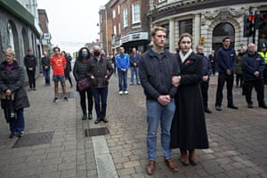 The silence is observed in Newbury, Berkshire