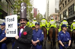 An anti-globalisation protest in Sydney in 2001.