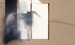 Detalhe do estudo de um touro.