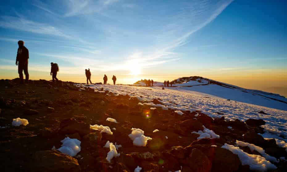 Route masters … Mount Kilimanjaro, climbers head for the summit on the Machame route.