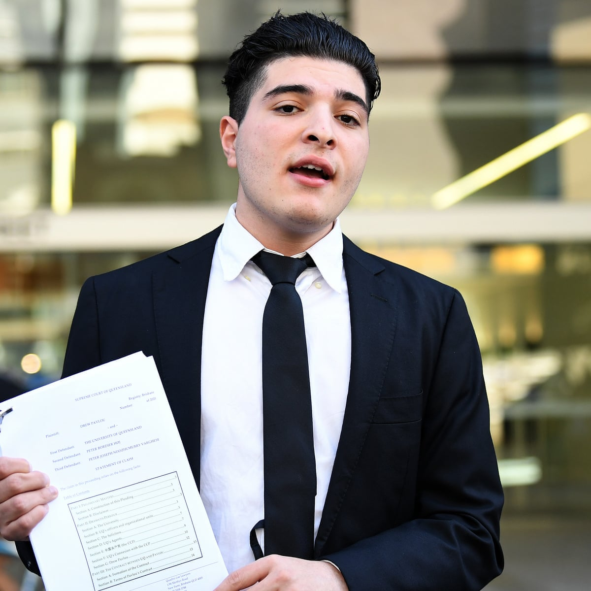 Queensland Student Drew Pavlou S Suspension Reduced But Will Remain Out Of University Until 2021 Australian Education The Guardian