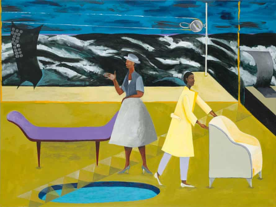 Le Rodeur The Pulley,Lubaina Himid (b.1954), Government Art Collection © the artist. Photo Government Art Collection