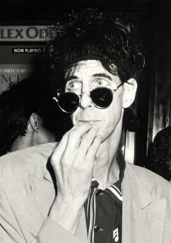 Ric Ocasek attending the premiere of the 1989 film Great Balls of Fire! in New York.
