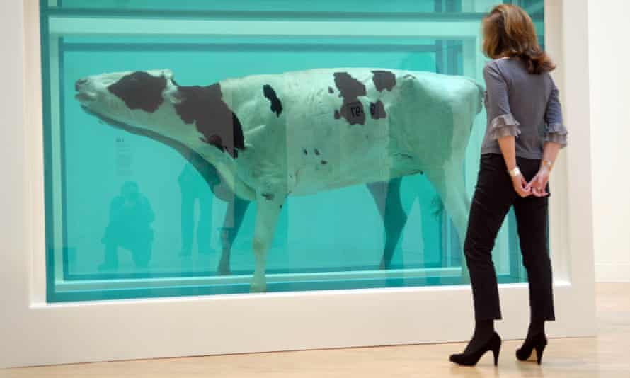An artwork by Damien Hirst. The man who championed him, Gregor Muir, wants British art to be edgy again.