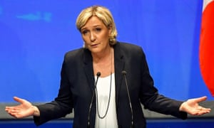 Marine Le Pen, leader of France's far-right National Rally