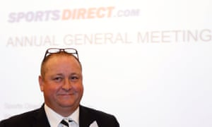 Mike Ashley, founder and majority shareholder of sportwear retailer Sports Direct.