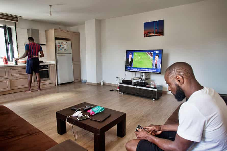 Sani Gideon at his Istanbul home