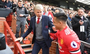 Alexis Sánchez and Arsène Wenger, two former Arsenal men, say hello and goodbye.