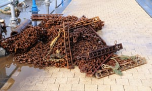 Scallop dredging nets.