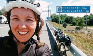Jenny Graham in Russia during her world record attempt.