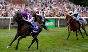 Ryan Moore guides Ten Sovereigns to win the July Cup at Newmarket.