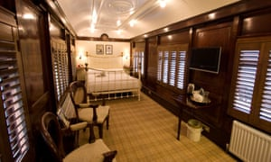 Pullman carriage bedroom. the Old Railway Station, Sussex