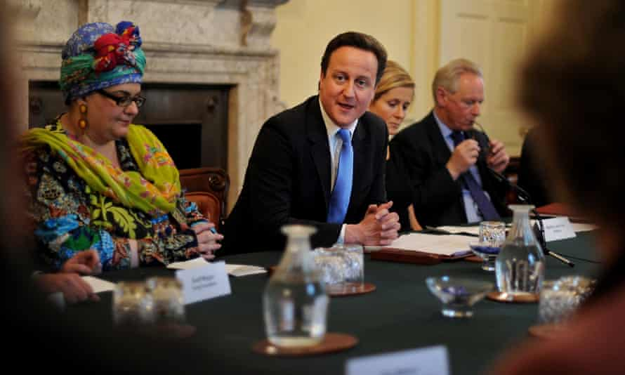 Camila Batmanghelidjh alongside David Cameron