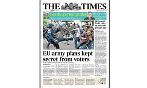The Times front page 27 May 2016