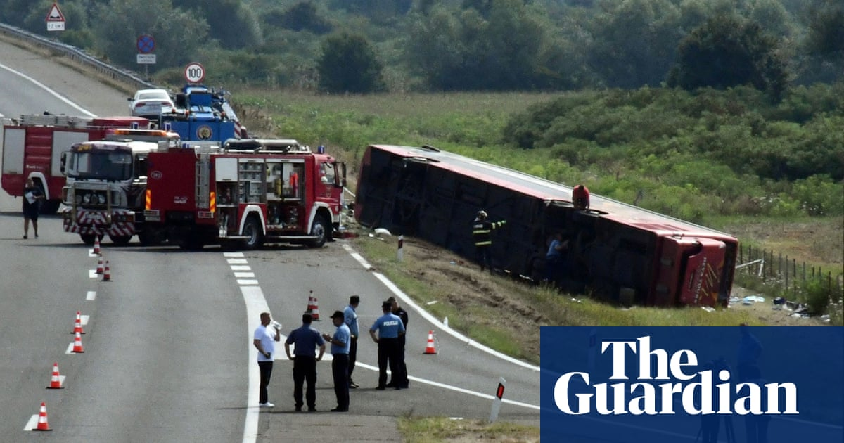 At least 10 dead and 44 injured in bus crash in Croatia after driver lost control