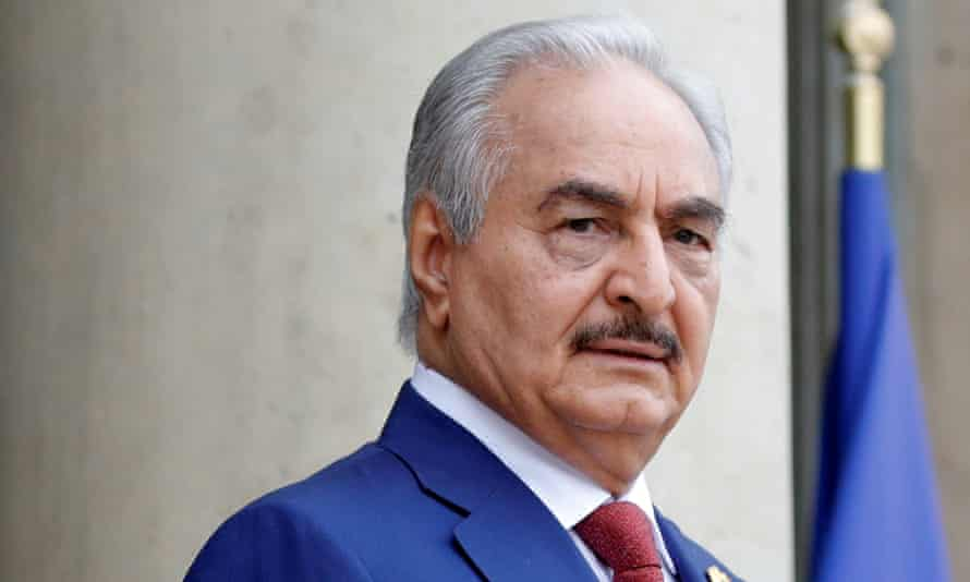 Khalifa Haftar and his Libyan National Army hired lobbyists in Washington after a phone call from Donald Trump.