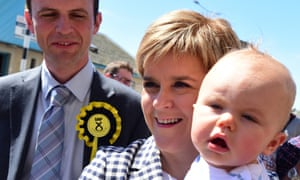 SNP leader Nicola Sturgeon campaigning in Anstruther.