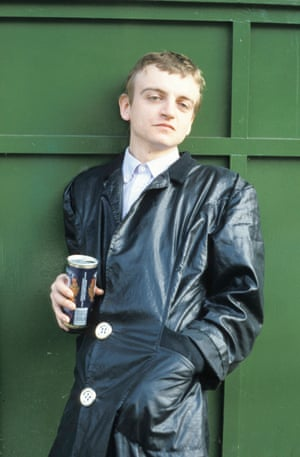 Mark E Smith pictured in the early days of the Fall.