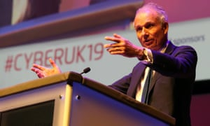 David Lidington speaking during CYBERUK held at the Scottish Event Campus in Glasgow.