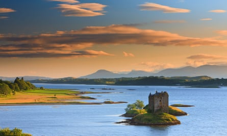 Castle Stalker is a four-storey tower house or keep picturesquely set on a tidal islet on Loch Laich, an inlet off Loch Linnhe