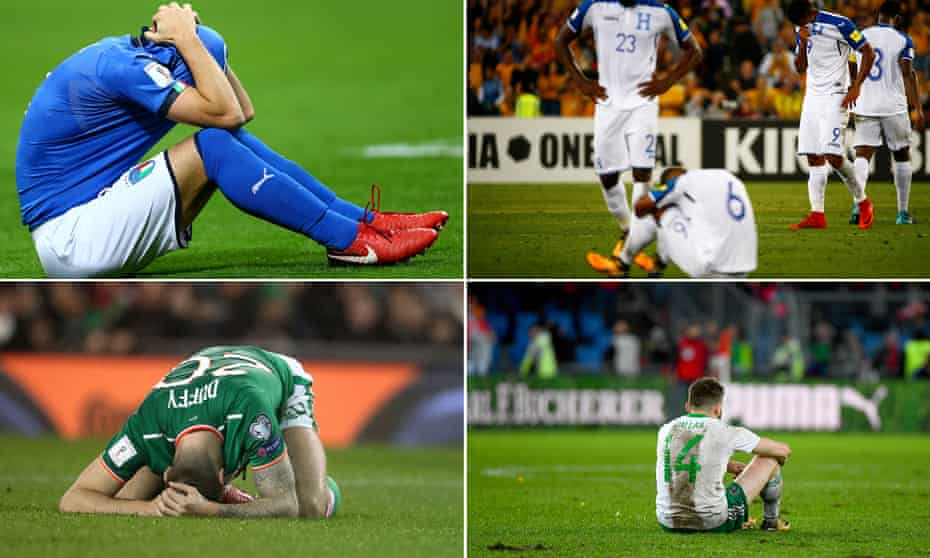 Italy, Honduras, Northern Ireland and Republic of Ireland players suffer defeat at the hurdle.