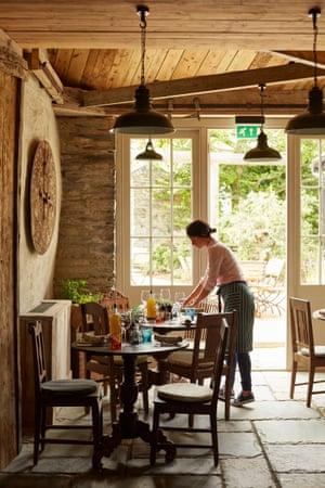 Dining room at The Pig at Harlyn Bay