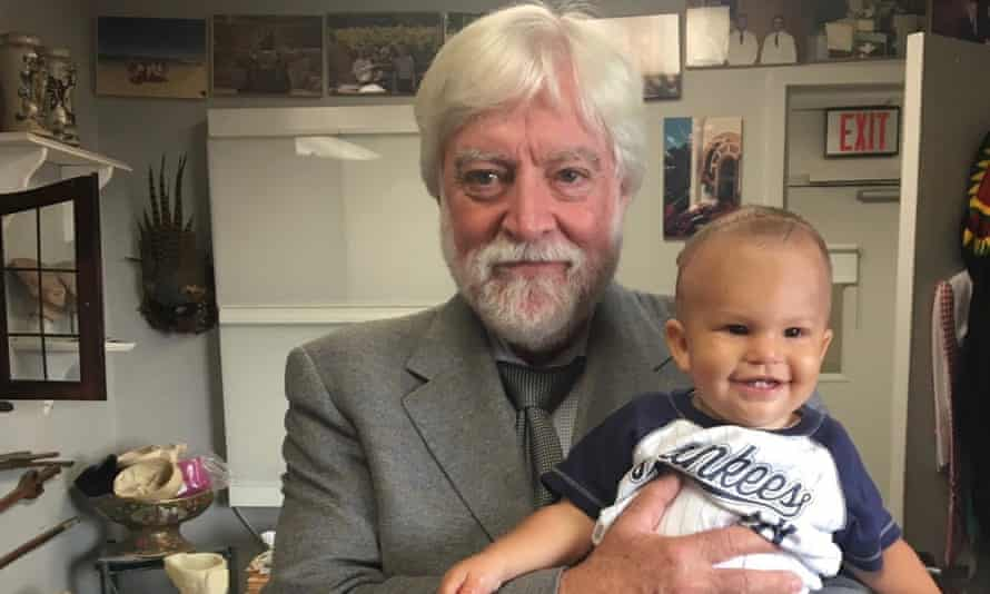 Dr. James Goodrich with a young patient.