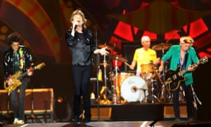 The Rolling Stones perform in Sao Paulo, Brazil, in February.
