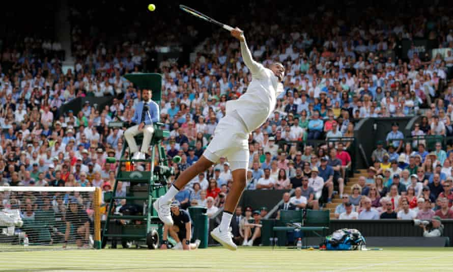Nick Kyrgios put in a massive effort against Rafael Nadal but lost in four sets.