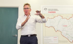 Independent Kevin Mack is running in the seat of Farrer. A shift in primary votes in a small number of seats is expected, though whether it will be enough to remove sitting members is not clear