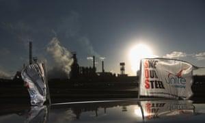 Tata's Port Talbot steelworks in Port Talbot, Wales