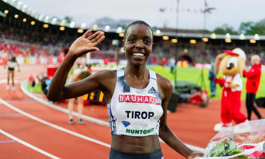Agnes Tirop at a Diamond League meeting in Stockholm in 2019